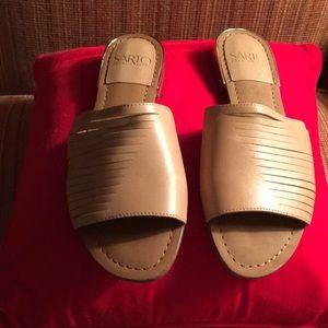 Franco Sarto NWOB Neutral Leather Slides Size 7.5